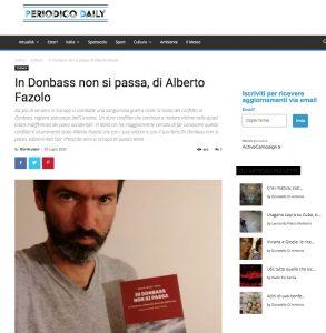 Periodicodaily.com, In Donbass non si passa, di Alberto Fazolo