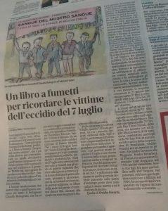 """""""Sangue del nostro sangue"""" su la Gazzetta di Reggio Emilia"""