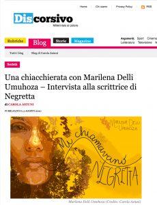 Una chiacchierata con Marilena Delli Umuhoza – Intervista alla scrittrice di Negretta
