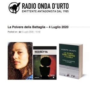 Negretta a Radio Onda d'Urto