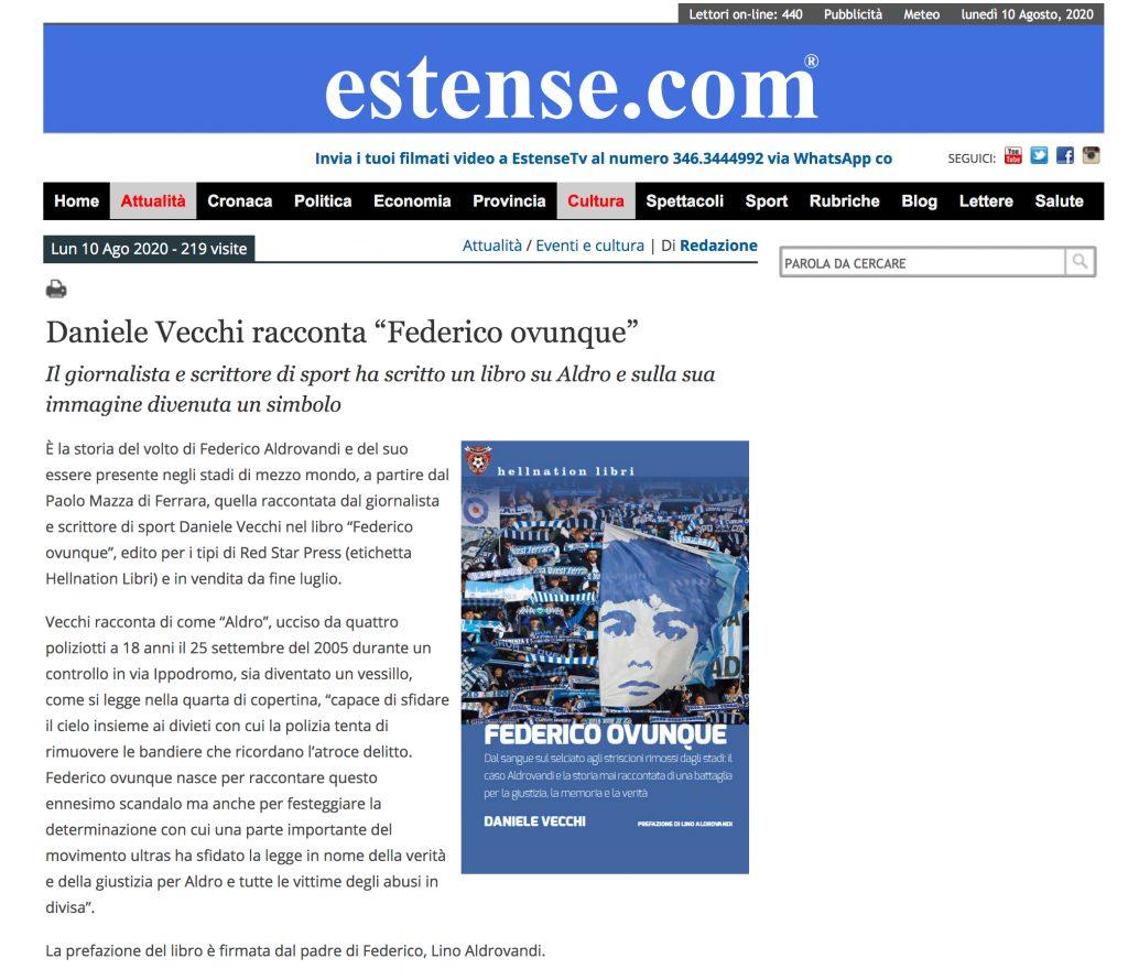 Federico Ovunque su Estense.com