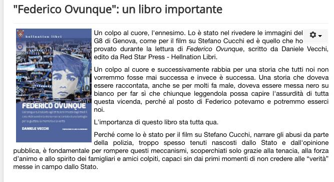 """Federico Ovunque"": un libro importante"